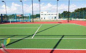Thi công kẻ line sân tennis