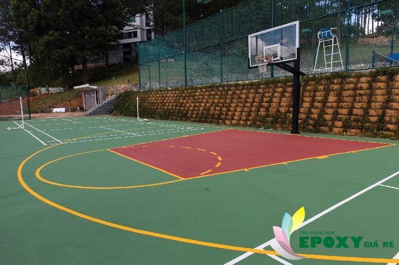 Gía thi công sân bóng rổ